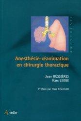 Anesthésie réanimation en chirurgie thoracique