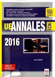 Annales ECN en QCM 2016