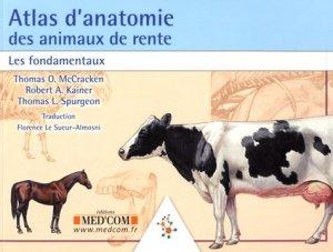 Atlas d'anatomie des animaux de rente-med'com-9782354032425