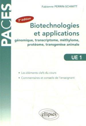 Biotechnologies et applications (génie génétique)-ellipses-9782340016385