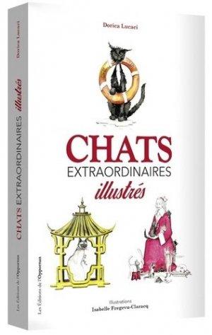 Chats extraordinaires illustrés-de l'opportun-9782360754892