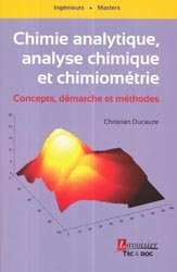 Chimie analytique, analyse chimique et chimiométrie