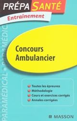 Concours Ambulancier-elsevier / masson-9782294709746
