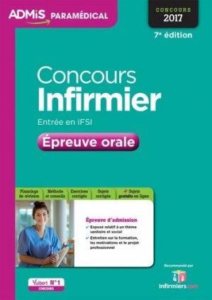 Concours Infirmier - Épreuve orale 2016-vuibert-9782311204124