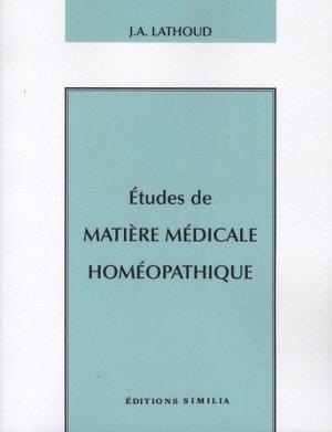 Etudes de matière médicale homéopathique-similia-9782842510770