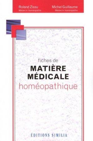 Fiches de matière médicale homéopathique-similia-9782842510749