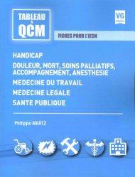 Handicap, douleur, soins palliatifs, médecine du travail, médecine légale, santé publique