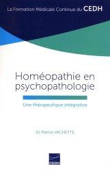 Homéopathie en psychopathologie