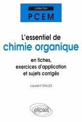 L'essentiel de chimie organique-ellipses-9782729808693