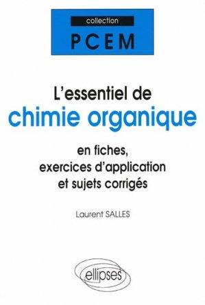 L'essentiel de chimie organique-ellipses-9782729808693