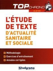 L'étude de texte d'actualité sanitaire et sociale