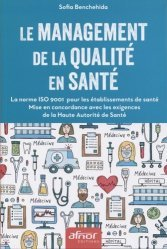 Le management de la qualité en santé