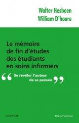 Le mémoire de fin d'études des étudiants en soins infirmiers