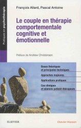 Le couple en thérapie comportementale, cognitive et émotionnelle
