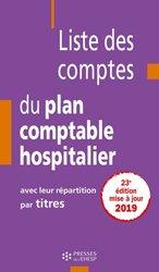 853d3e58f8f Liste des comptes du plan comptable hospitalier avec leur répartition par  titres