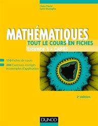 Mathématiques - Tout le cours en fiches - Licence 1 - Capes