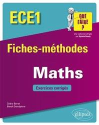 Mathématiques ECE1 - Fiches-méthodes et exercices corrigés