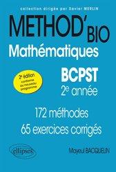 Mathématiques BCPST -2e année