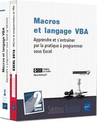 Macros et langage vba - Coffret de 2 livres