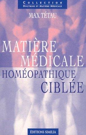 Matière médicale homéopathique ciblée-similia-9782842510565