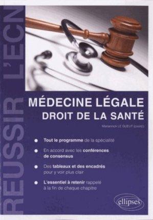 Médecine légale - Droit de la Santé-ellipses-9782729873974