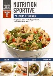 Nutrition sportive-modus vivendi (canada)-9782895238751