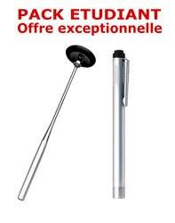PACK ETUDIANT - Marteau à réflexes Babinski adulte 25 cm Spengler + Lampe stylo à LED Litestick Spengler - INOX