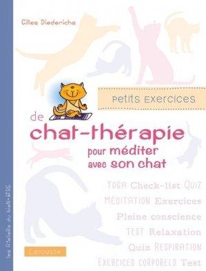 Petits exercices de chat-thérapie pour bien vivre avec son chat-larousse-9782035879592