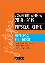 Physique-Chimie - Visa pour la prépa 2018-2019