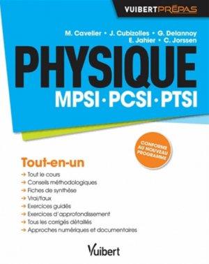 Physique MPSI - PCSI - PTSI-vuibert-9782311013016