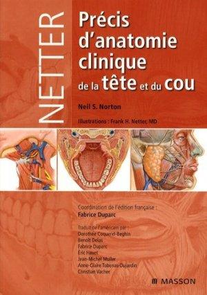 Précis d'anatomie clinique de la tête et du cou-elsevier / masson-9782294703232