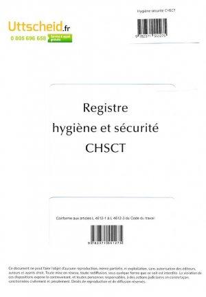 Registre hygiène et sécurité CHSCT-uttscheid-9782371551275