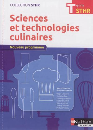 Sciences et technologies culinaires Tle STHR-nathan-9782091648132