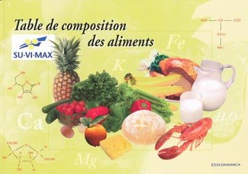 Table de composition des aliments collectif - Table de composition des aliments simplifiee ...