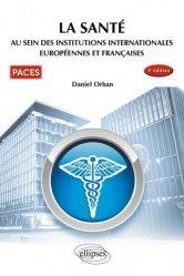 UE7 - La santé au sein des institutions internationales européennes et françaises