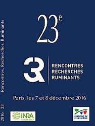Actes des 23èmes Rencontres Recherches Ruminants 2016 (3R)