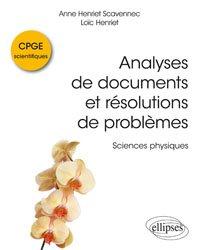 Analyses de documents et résolutions de problèmes en CPGE scientifiques