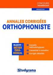Annales corrigées orthophoniste