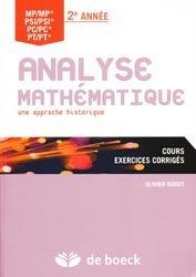 Analyse mathématique  2e année MP/MP* - PSI/PSI* - PC/PC* - PT/PT*