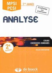 Analyse MPSI / PCSI 1re année