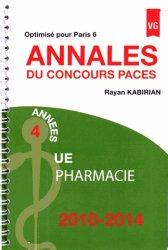 Annales du concours PACES UE Pharmacie 201062014