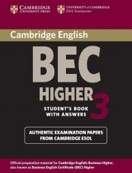 Cambridge BEC Higher 3 - Student's Book with Answers