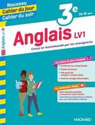 CAHIER JOUR CAHIER SOIR ANGLAIS LV1 3E