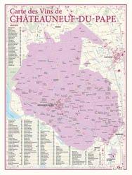 Carte des Vins de Châteauneuf-du-Pape