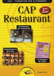 CAP Restaurant 1ère année - Version élève