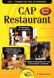CAP Restaurant 2ème année - Version Professeur