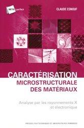 Caractérisation microstructurale des matériaux