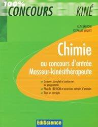 Chimie au concours d'entrée Masseur-kinésithérapie
