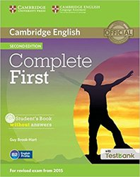 Complete First - Student's Book without Answers with CD-ROM with Testbank
