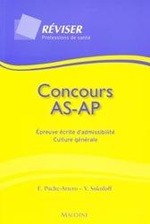Concours AS AP Épreuve écrite d'admissibilité Culture générale